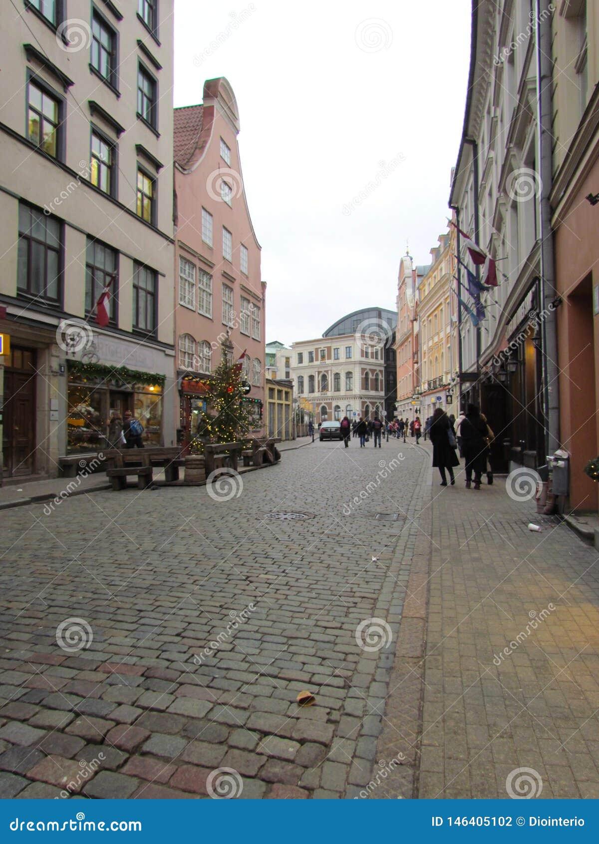 Ciudad europea Riga, Latvia