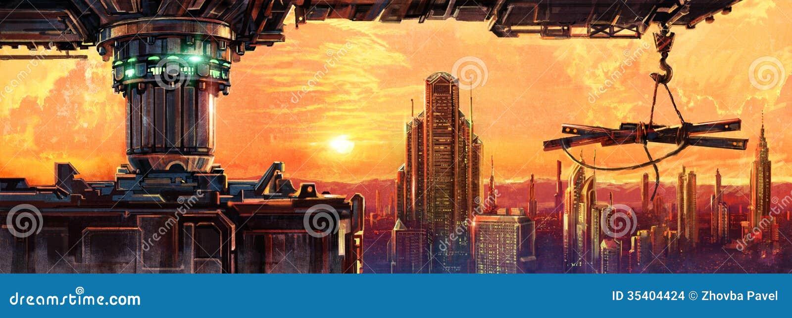 Ciudad fantástica del futuro