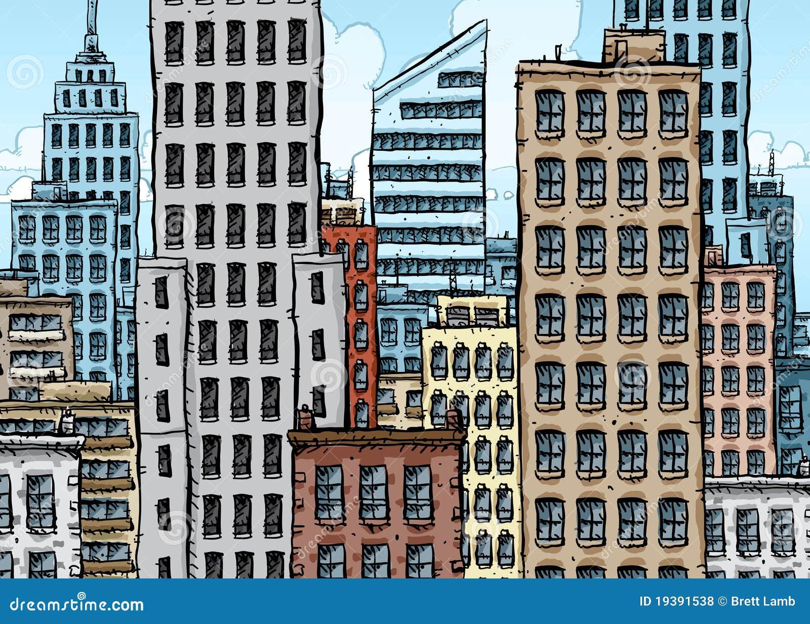 Ciudad grande de la historieta