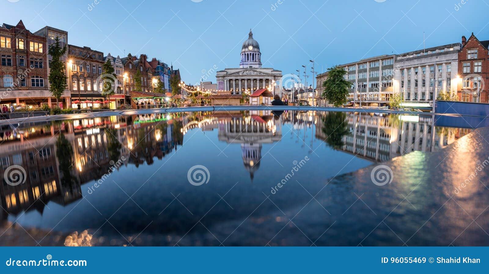 Ciudad Hall England de Nottingham