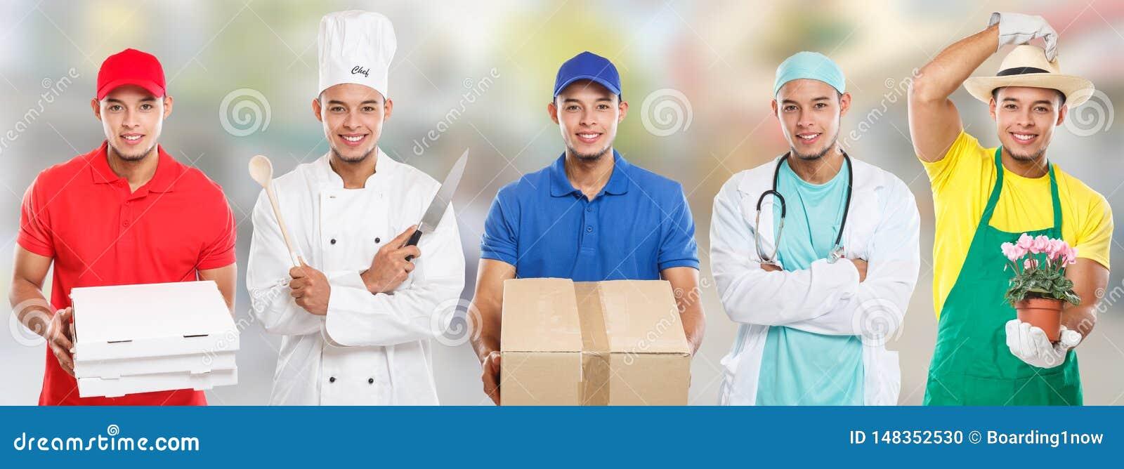Ciudad latina joven del trabajo del hombre del cocinero del doctor de la profesión del entrenamiento de la educación del empleo d