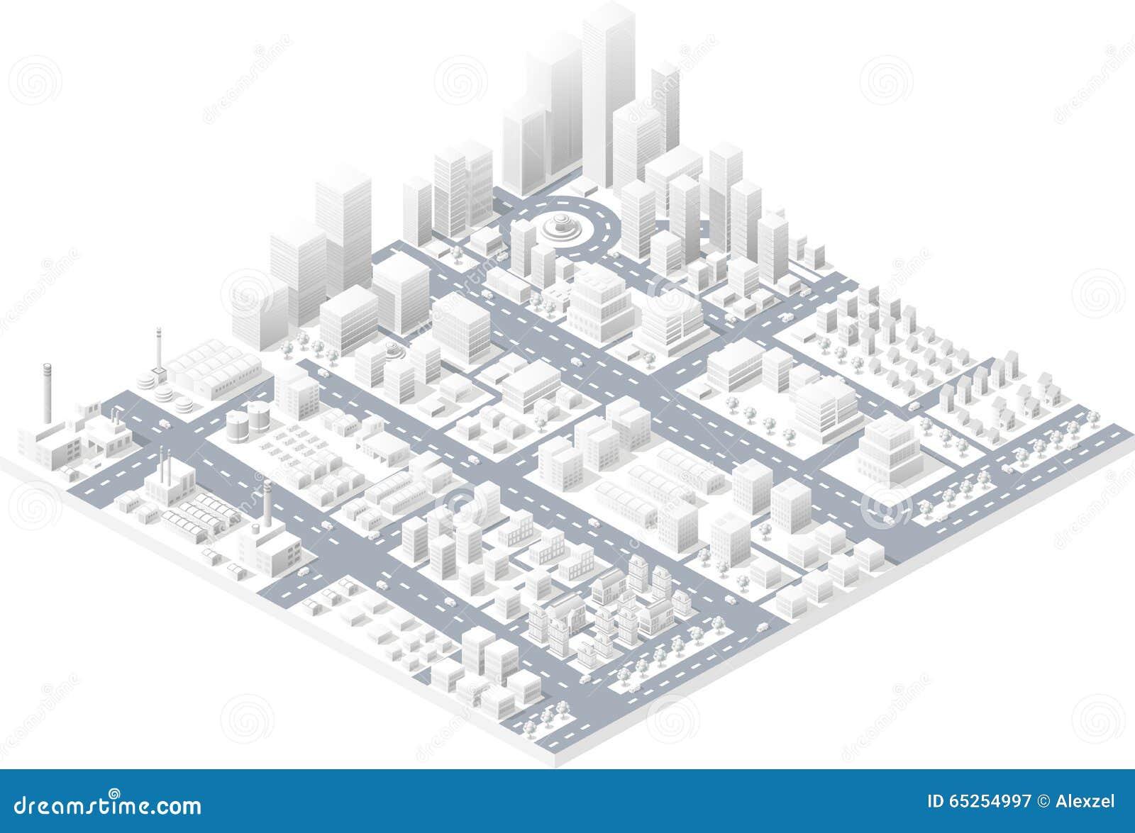 Ciudad moderna grande