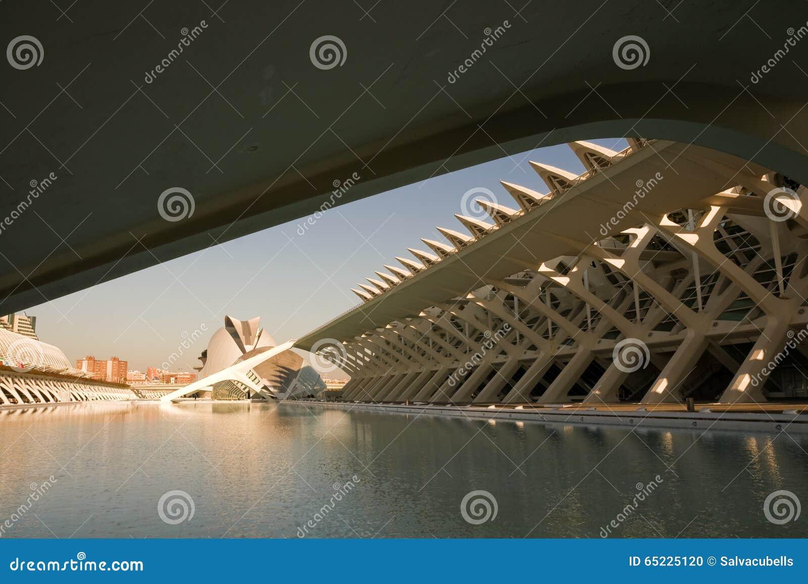 Ciutat De Les ciencies w Walencja, Hiszpania
