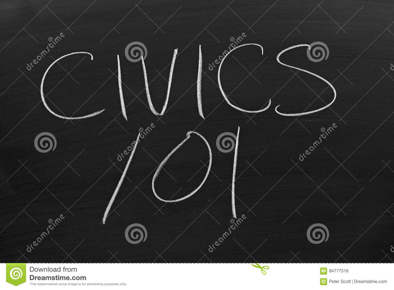 Civics 101 On A Blackboard