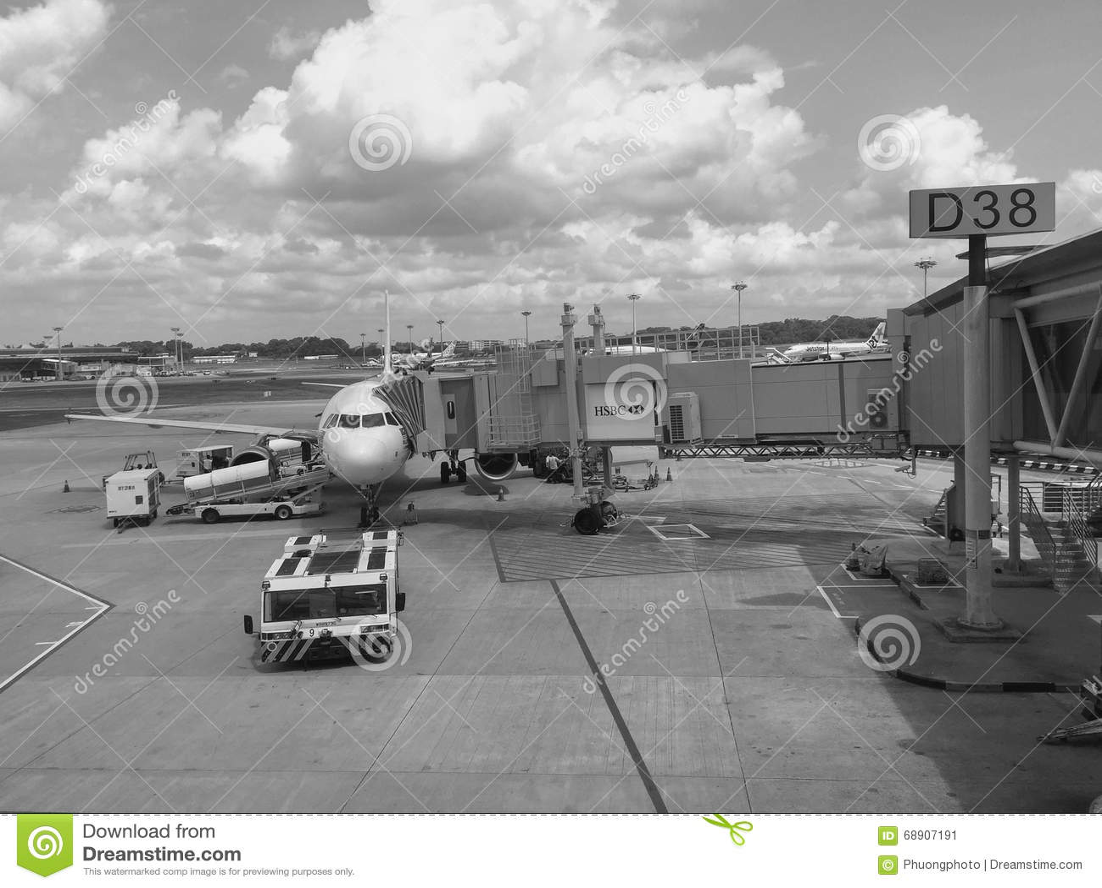 White apron malaysia - Civil Airplane At The Penang Airport Malaysia Editorial Photo