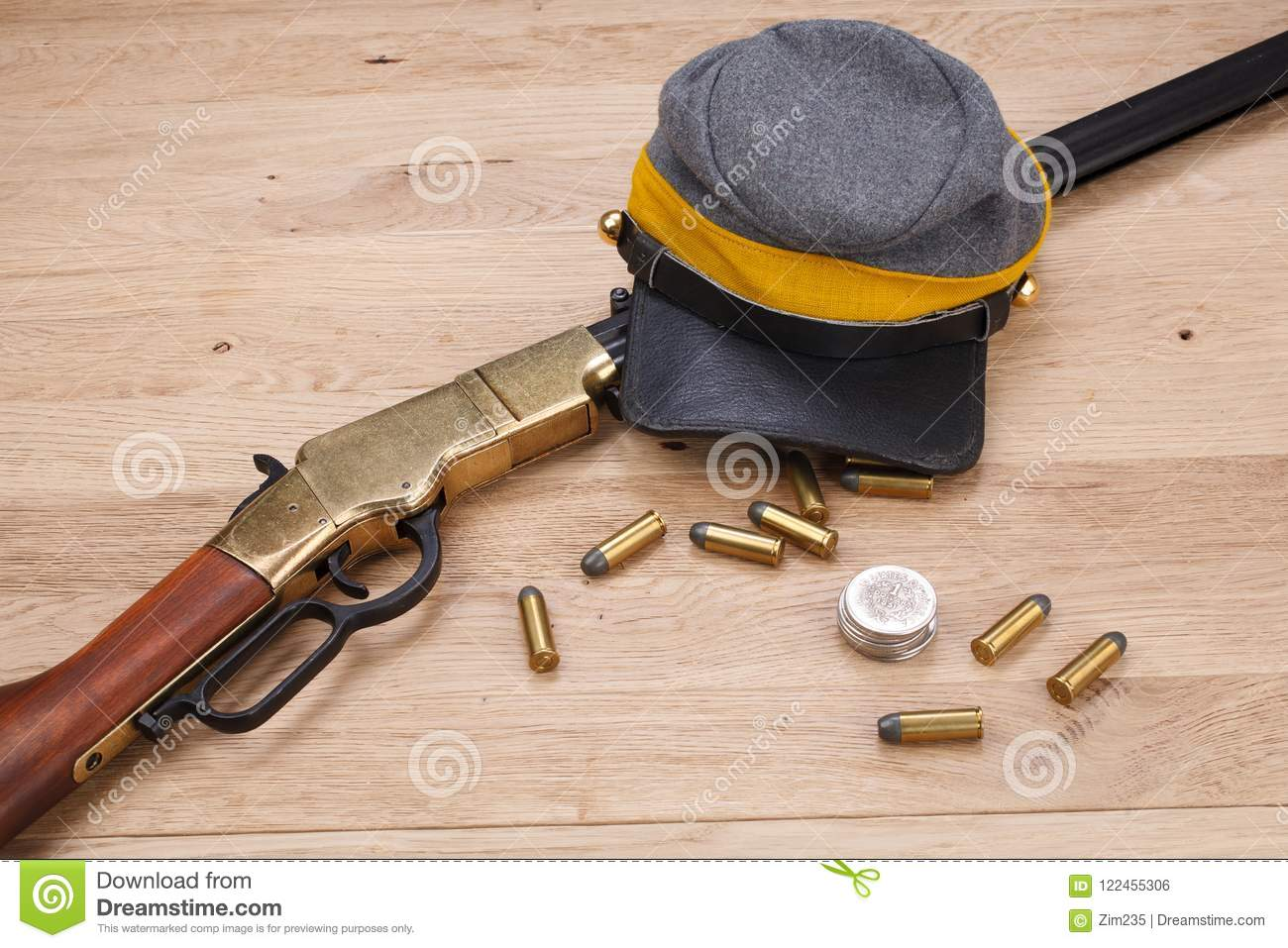 Civil War Period Repeating Rifle Stock Photo - Image of powerful