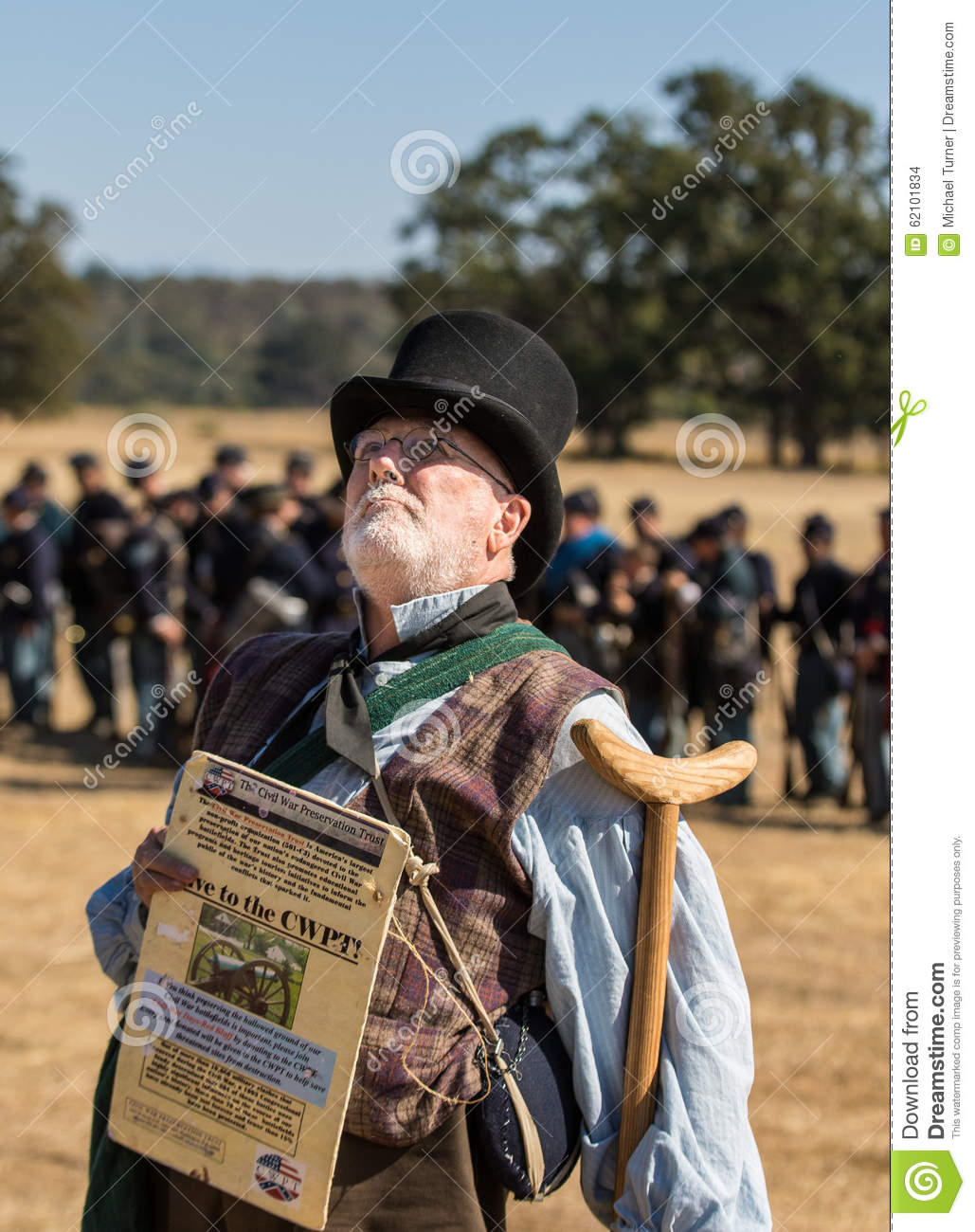 Civil War Recruiter editorial stock image  Image of veteran