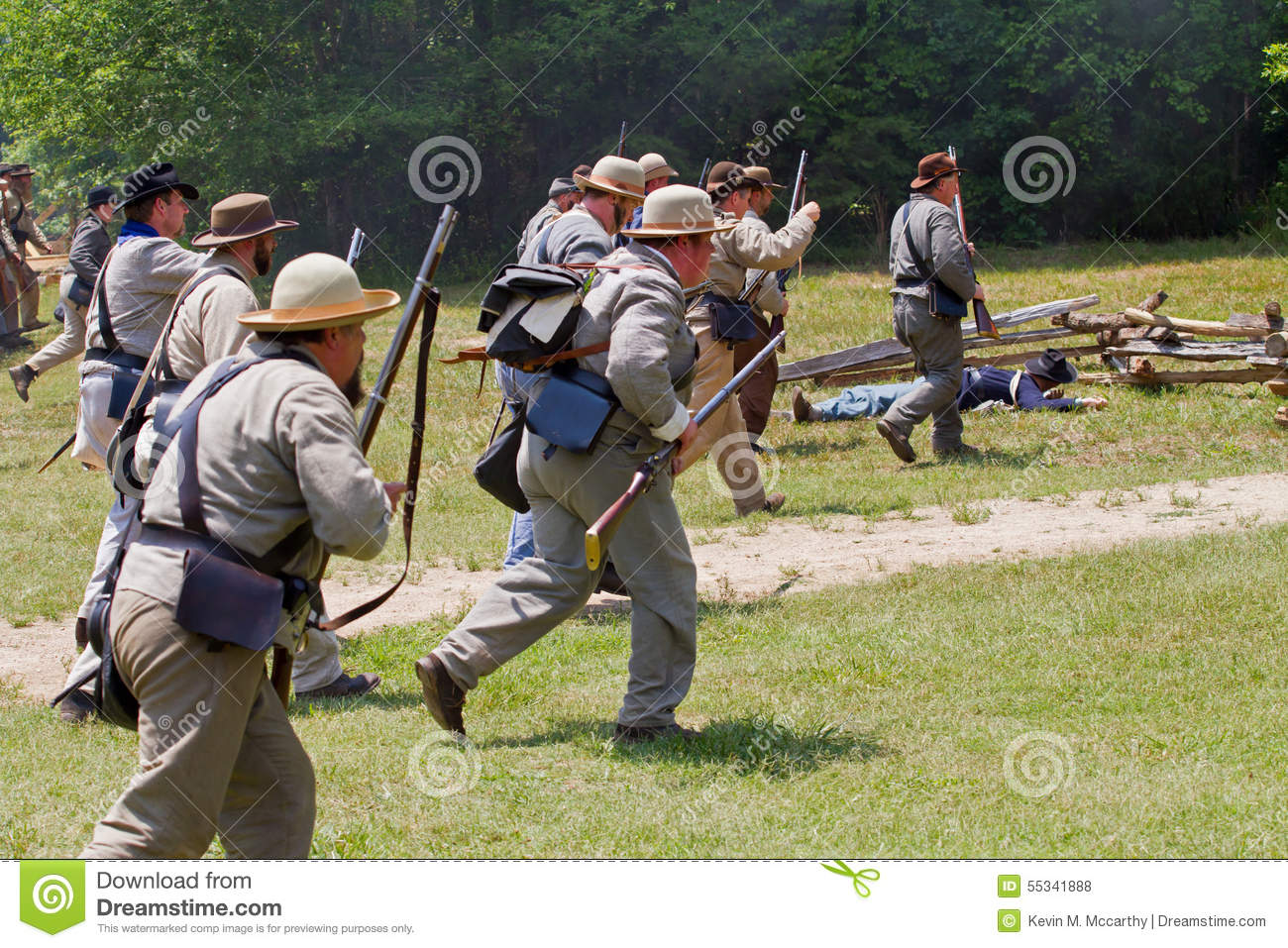 Civil War Reenactment editorial stock photo  Image of