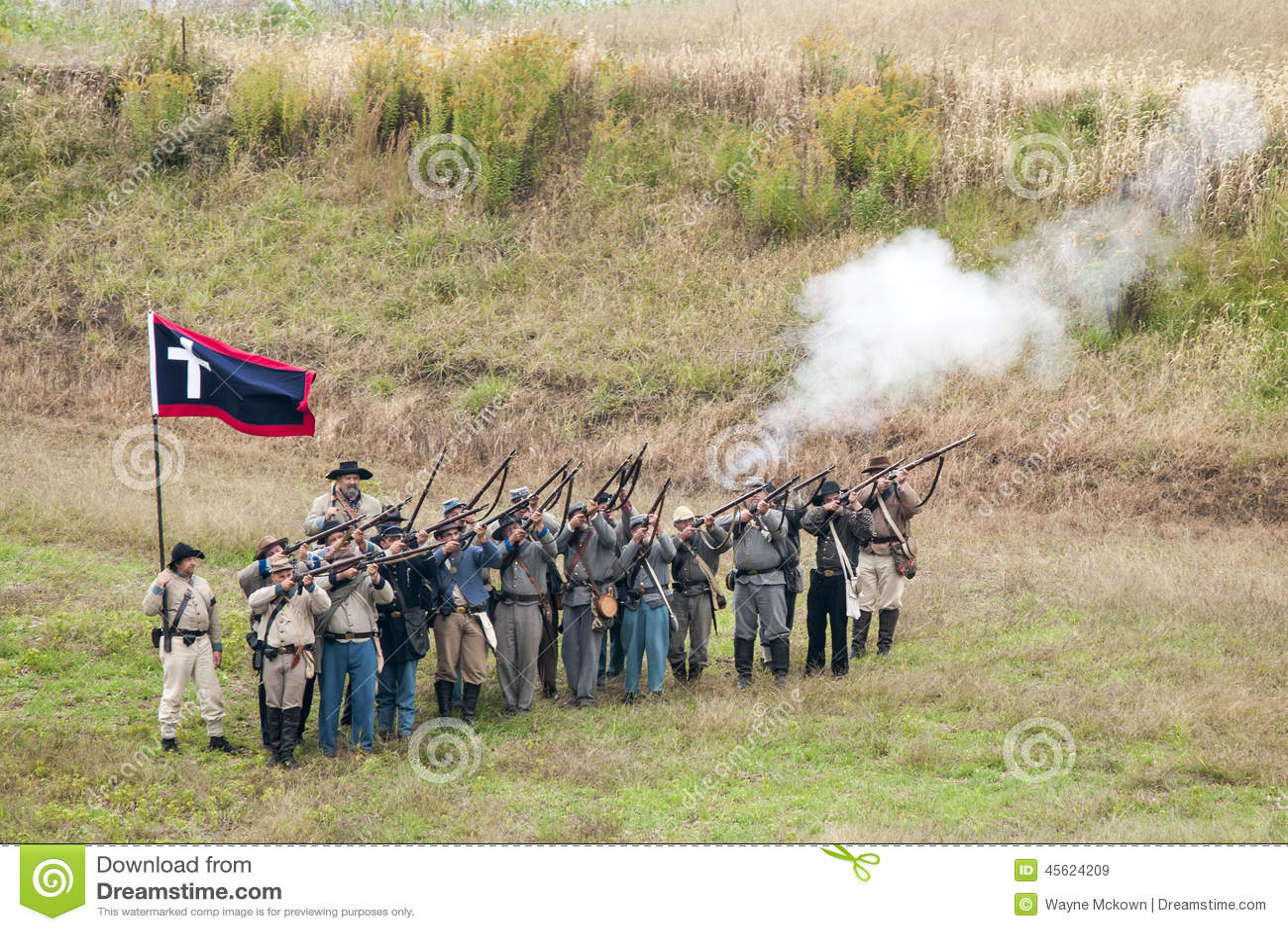 Civil War reenactment editorial stock image  Image of