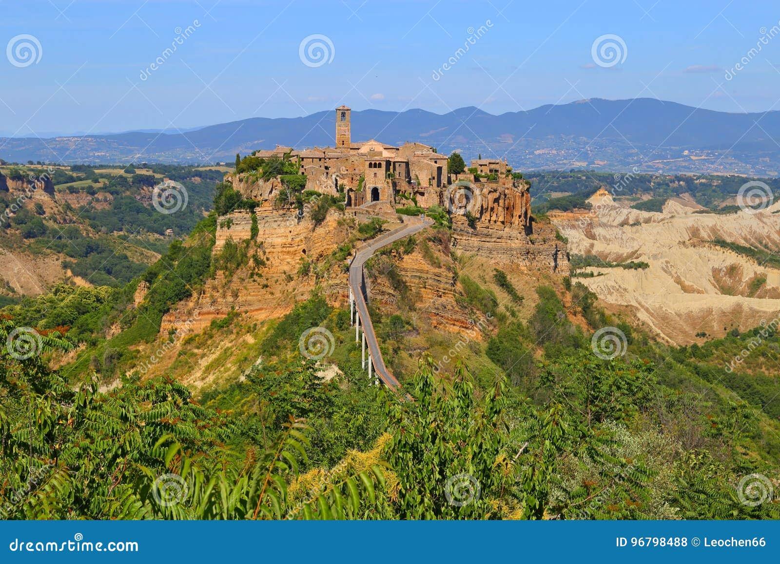 Civita Di Bagnoregio Town In The Province Of Viterbo Stock Photo