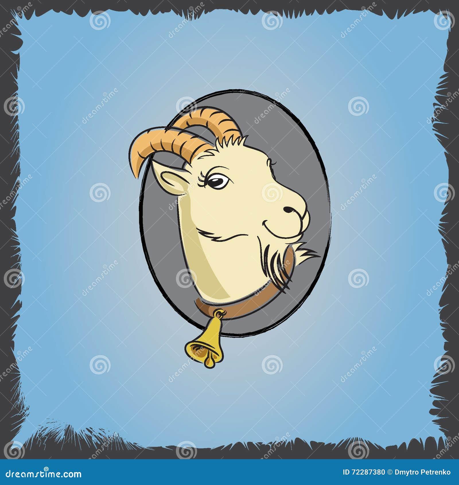Download Cketch 2 козы иллюстрация вектора. иллюстрации насчитывающей рожочки - 72287380