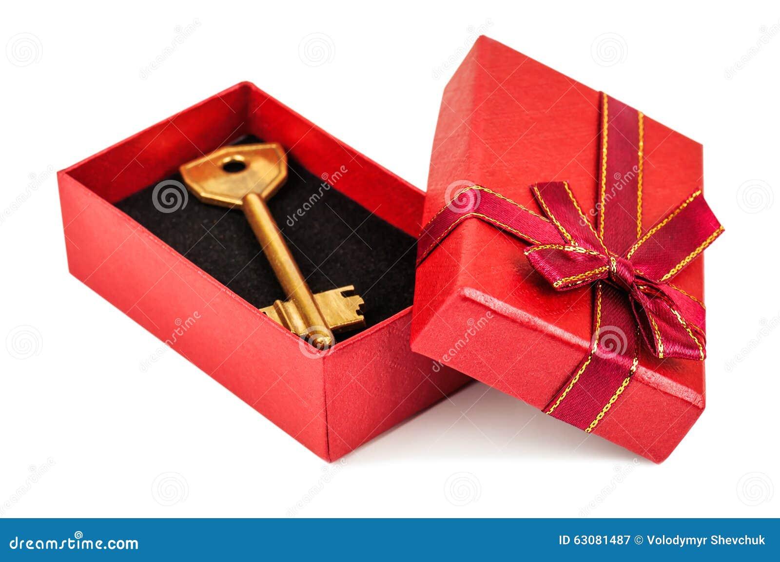 Download Clé dans la boîte rouge image stock. Image du home, dimensionnel - 63081487