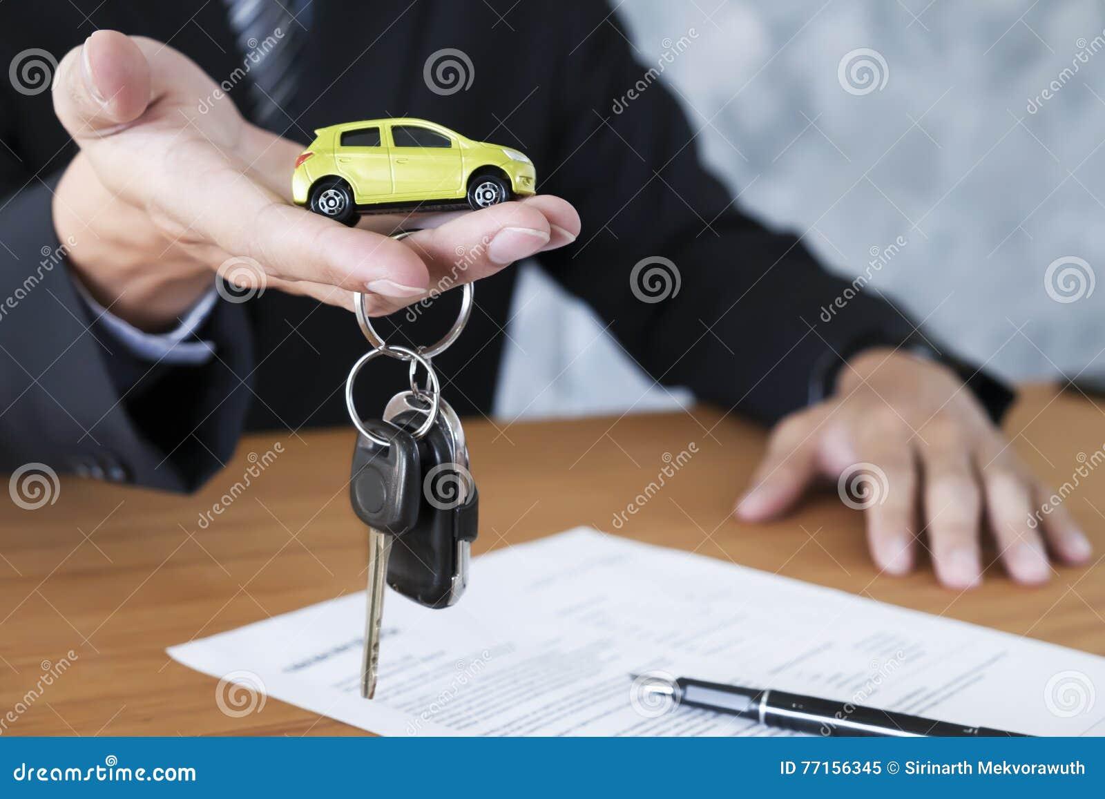 Clé de voiture pour l accord de ventes de véhicule