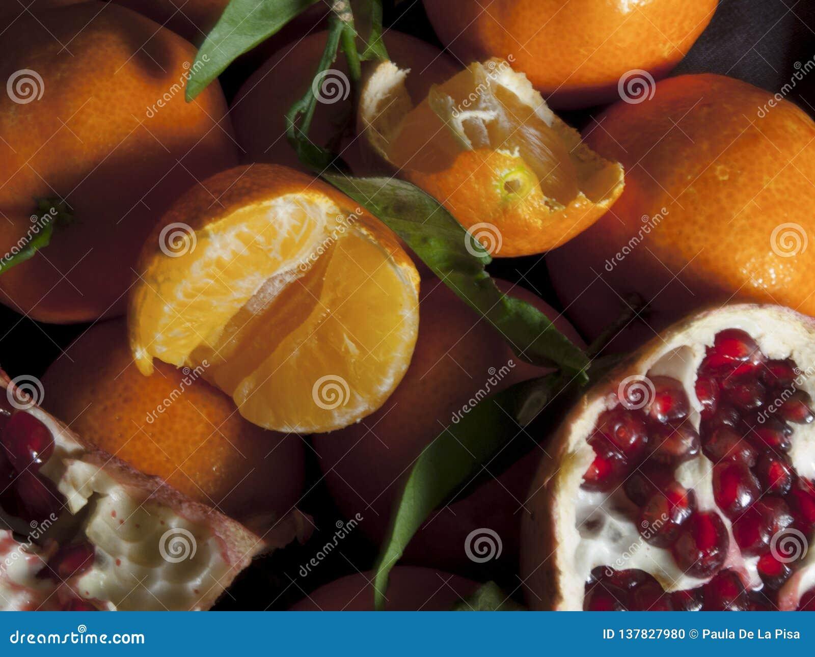 Clémentines et grenade Salade de fruits