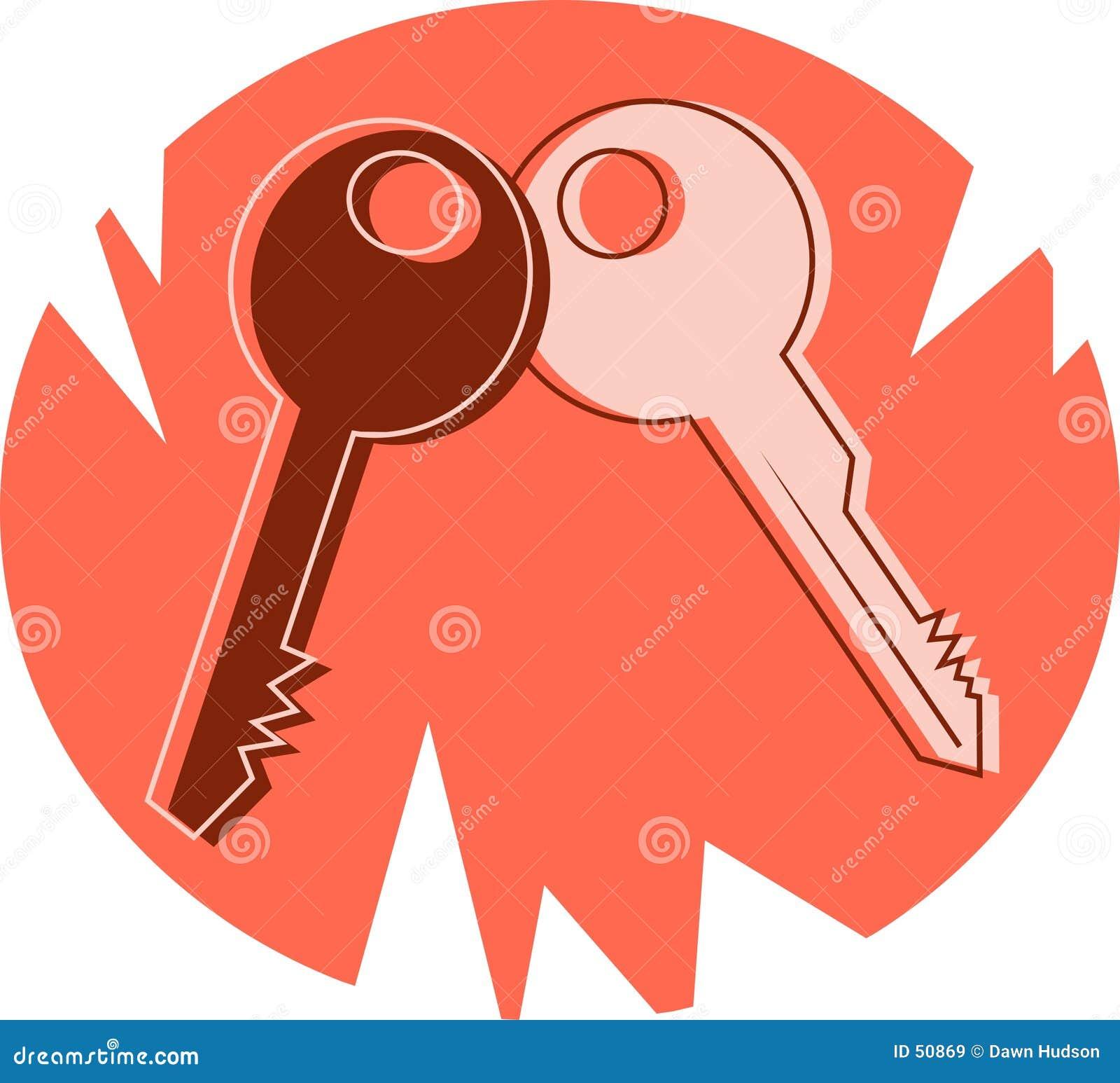 Download Clés illustration de vecteur. Illustration du clés, groupe - 50869