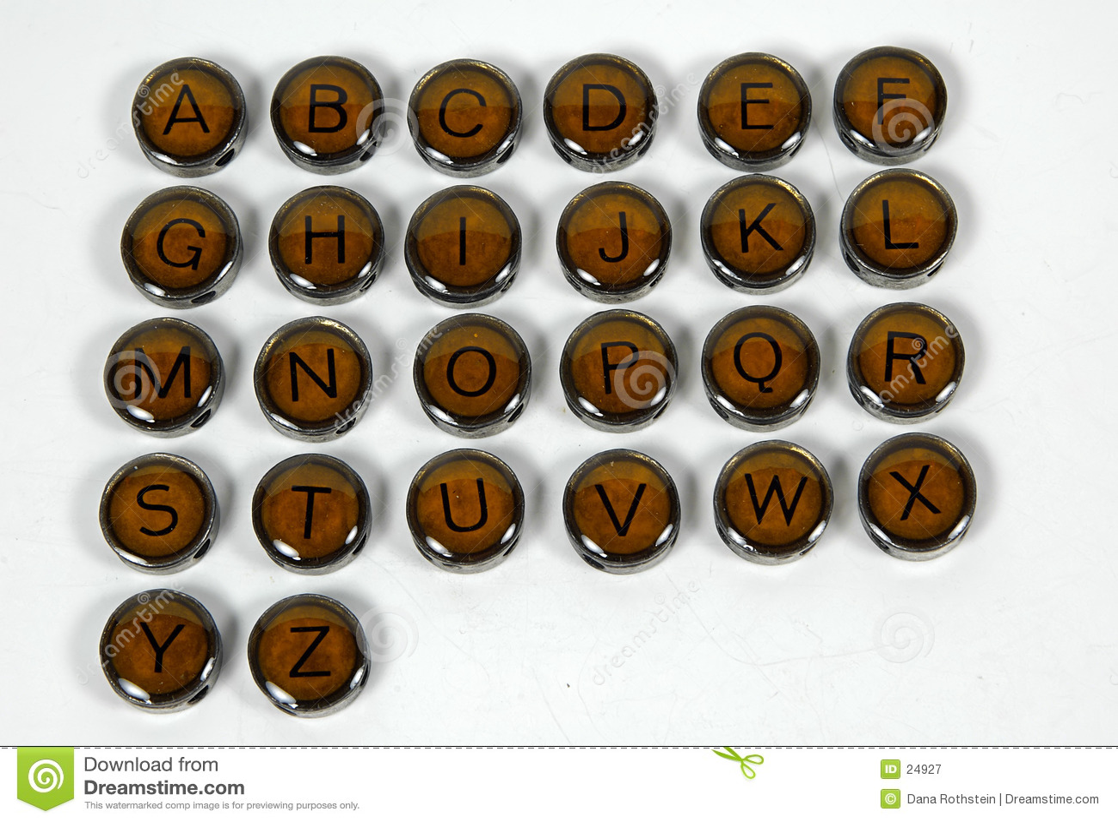Clés antiques de machine à écrire