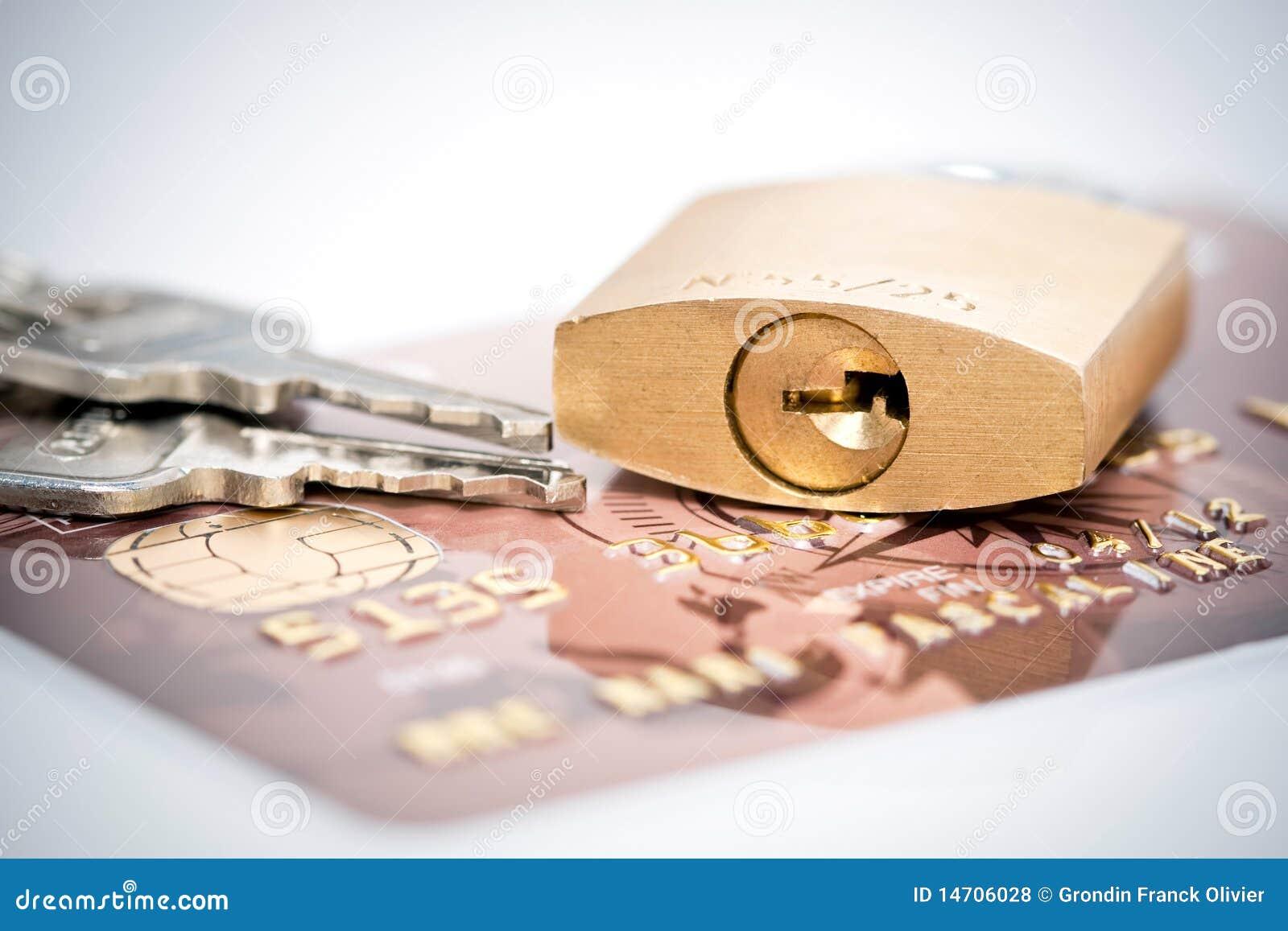Clés de cadenas et par la carte de crédit