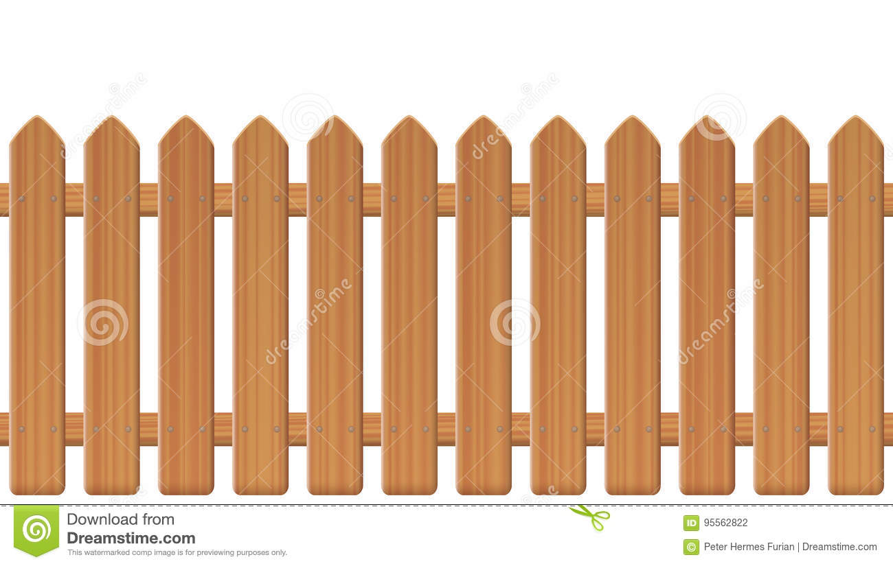 Cloture En Bois Blanc clôture wooden texture illustration de vecteur. illustration