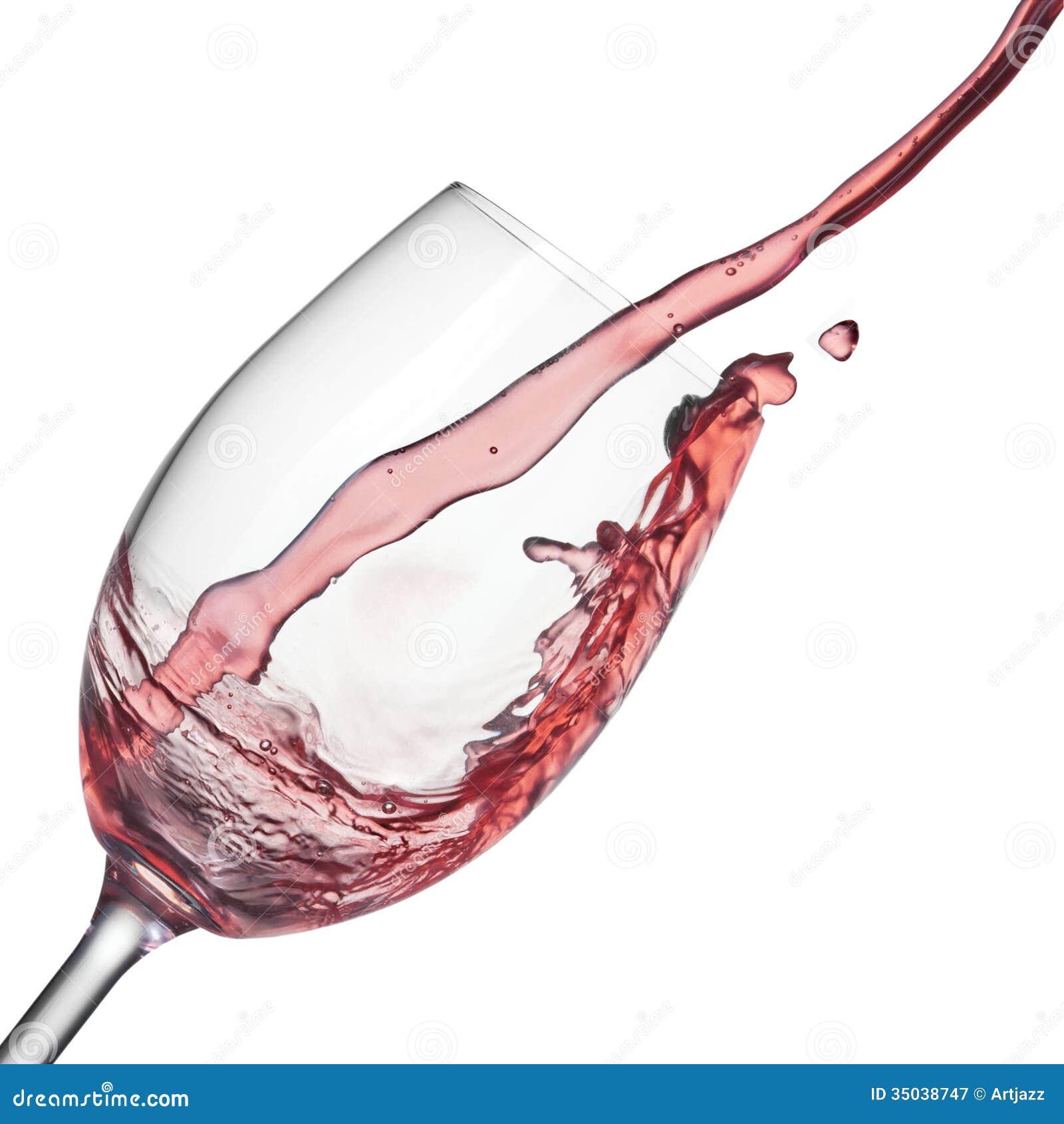 claboussure de vin ros dans le verre vin sur le blanc photographie stock libre de droits. Black Bedroom Furniture Sets. Home Design Ideas