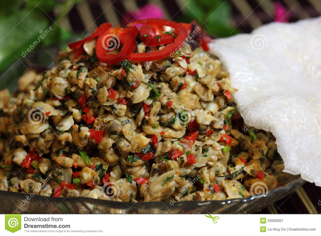 Clam and rice cracker stock image image 23560921 for Cuisine 3d dole