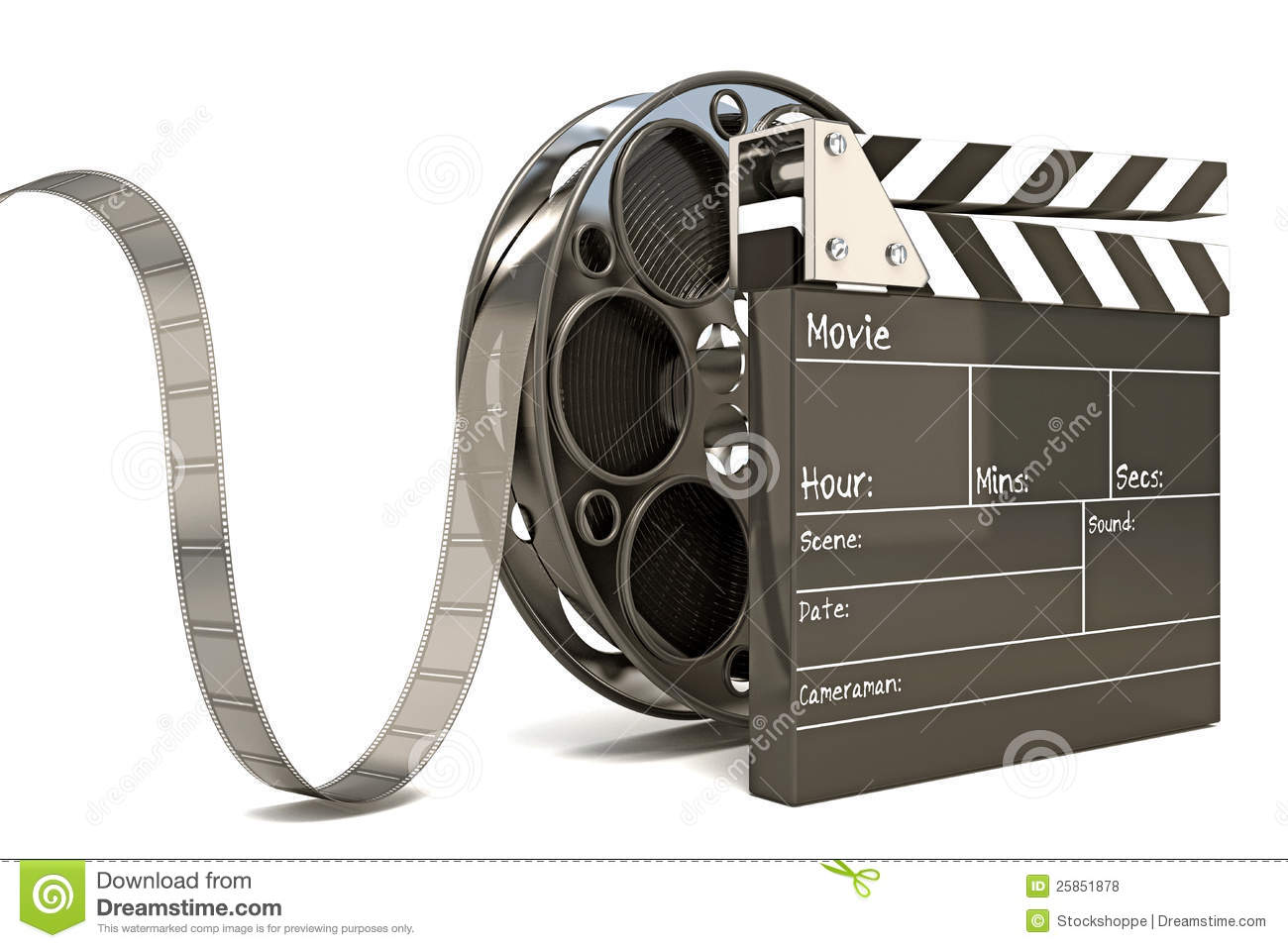 Clap stock illustrations 4289 clap stock illustrations vectors clap board with film reel illustration of clap board with film reel royalty free stock altavistaventures
