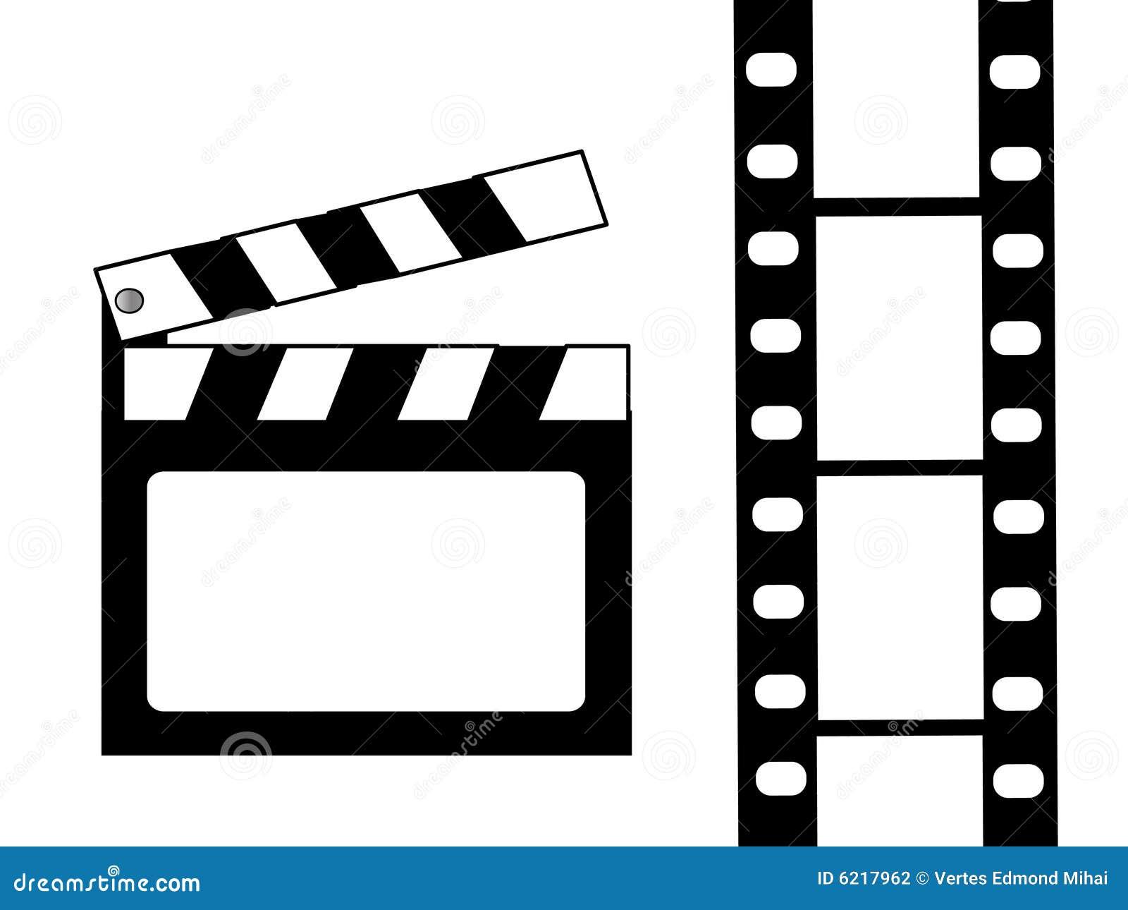 clapboard and film vector stock vector illustration of motion 6217962. Black Bedroom Furniture Sets. Home Design Ideas