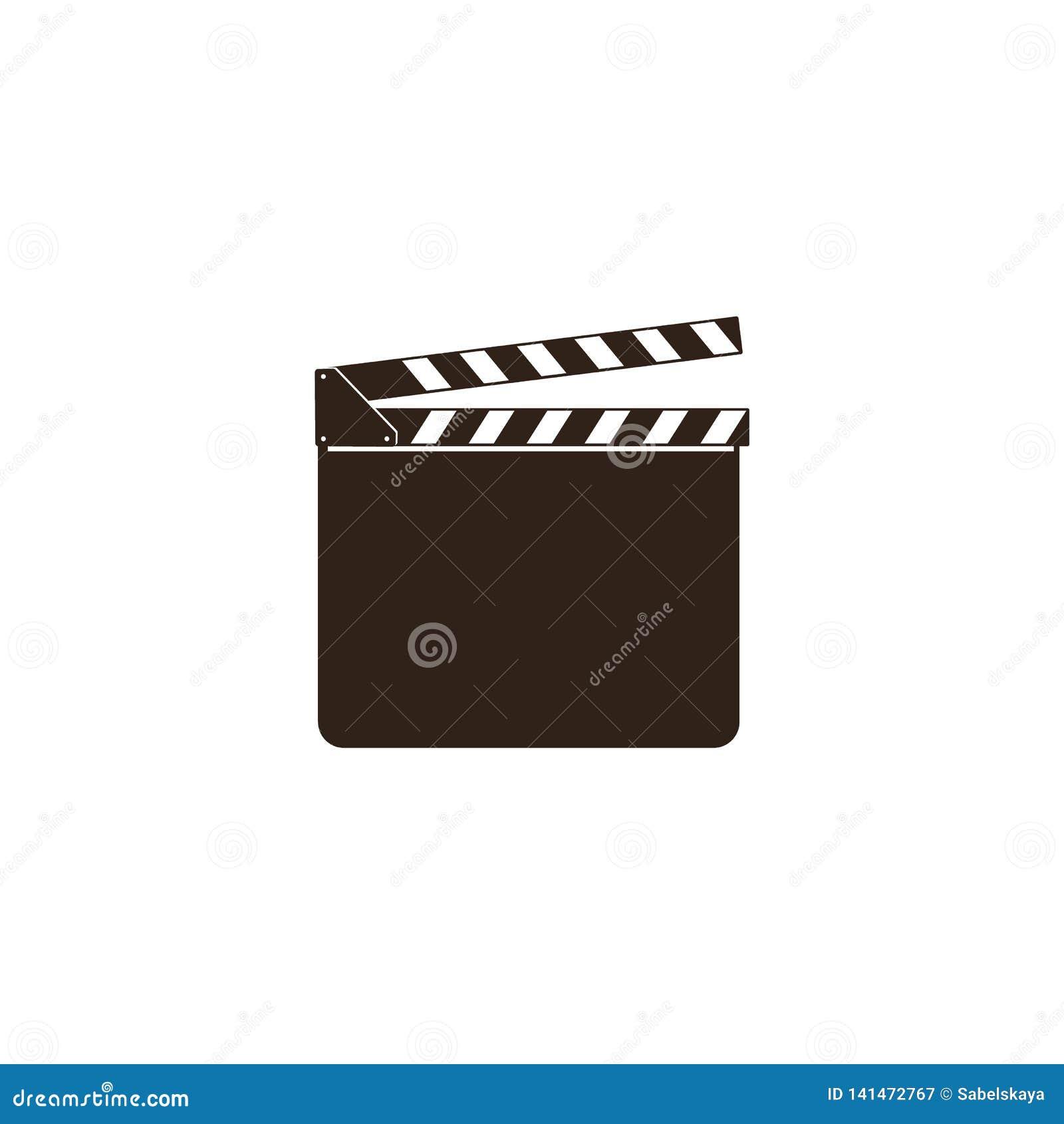 Clapet vide de film, bardeau, claquette ouverte noire et panneau d ardoise pour l industrie cinématographique