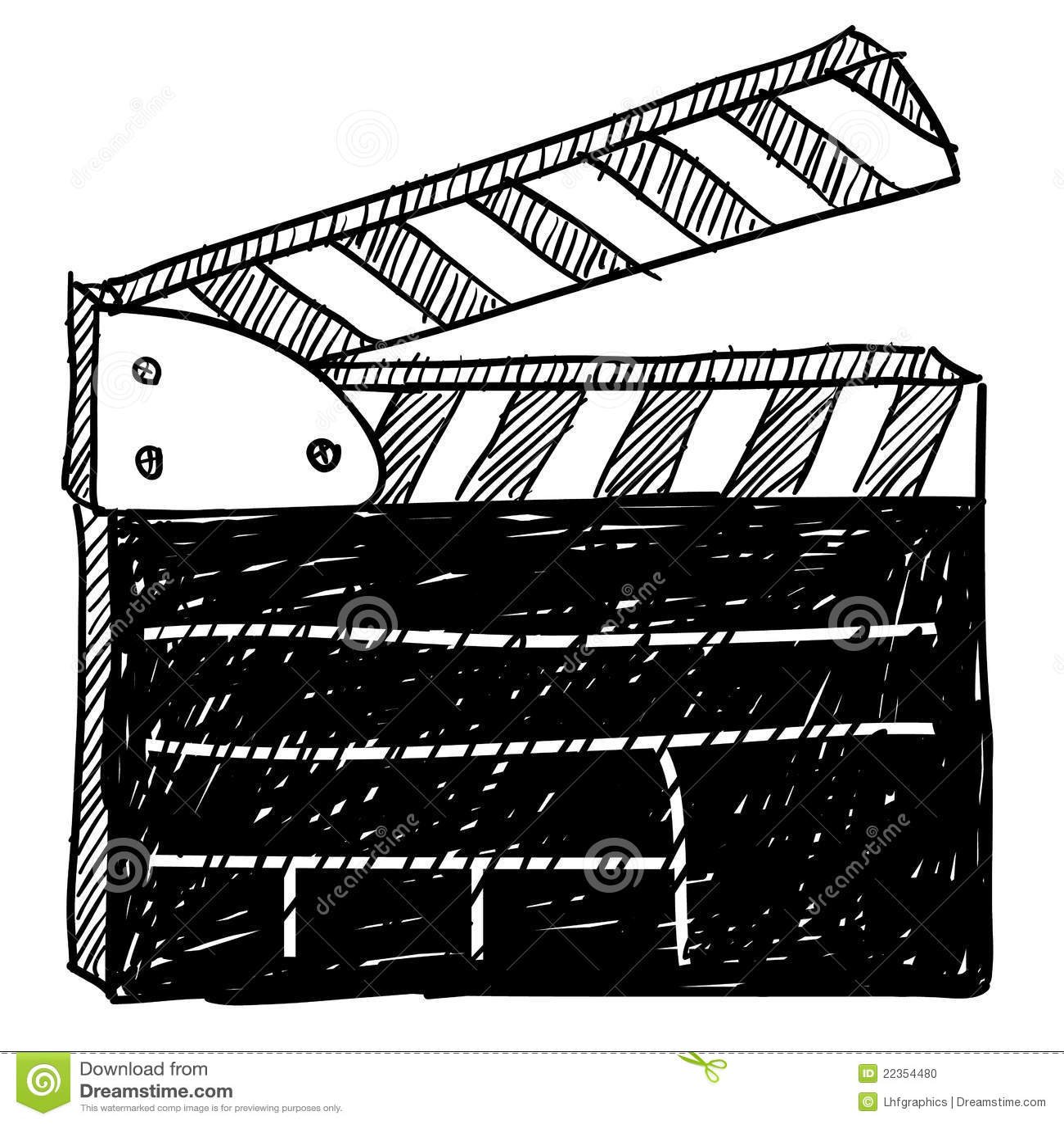 Clapperboard电影草图