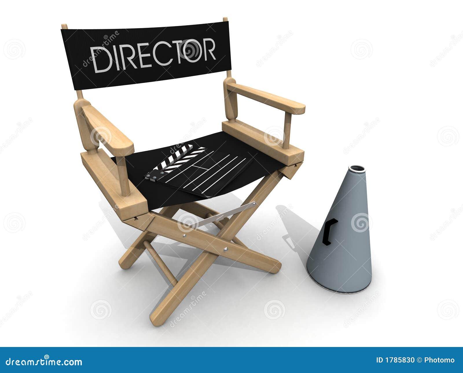 Clapperboard sobre rotura de la silla del director stock for Silla de director