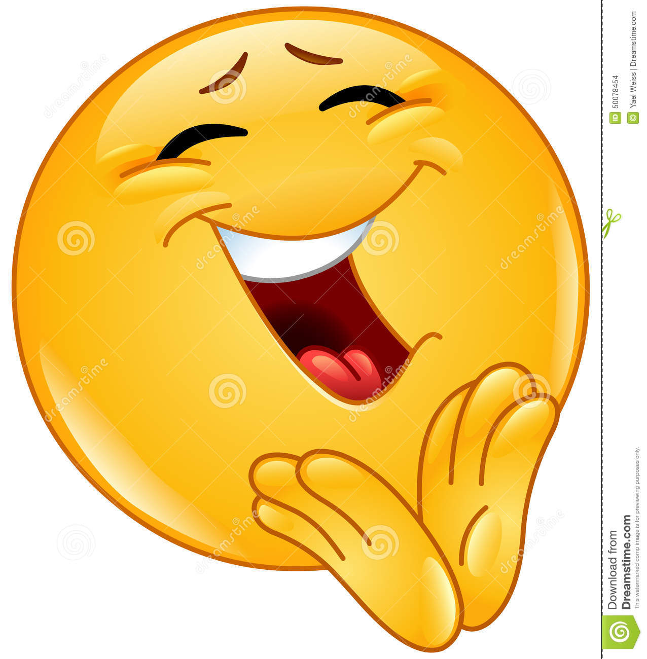 Clapping Cheerful Emoticon Stock Vector - Image: 50078454