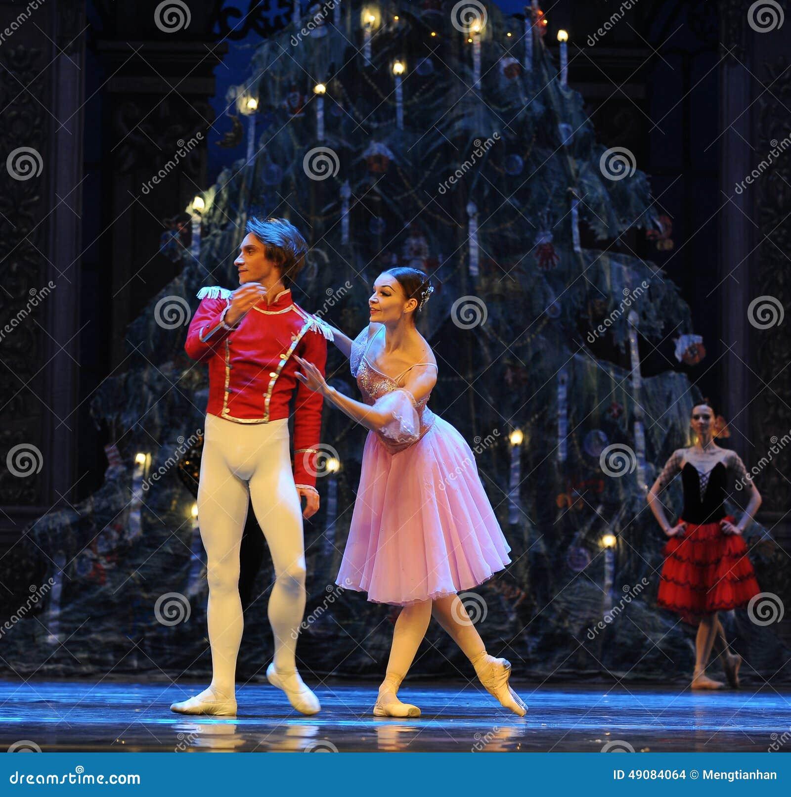 Clara keek rond merkwaardig het het suikergoedkoninkrijk van het tweede handelings tweede gebied - de Balletnotekraker