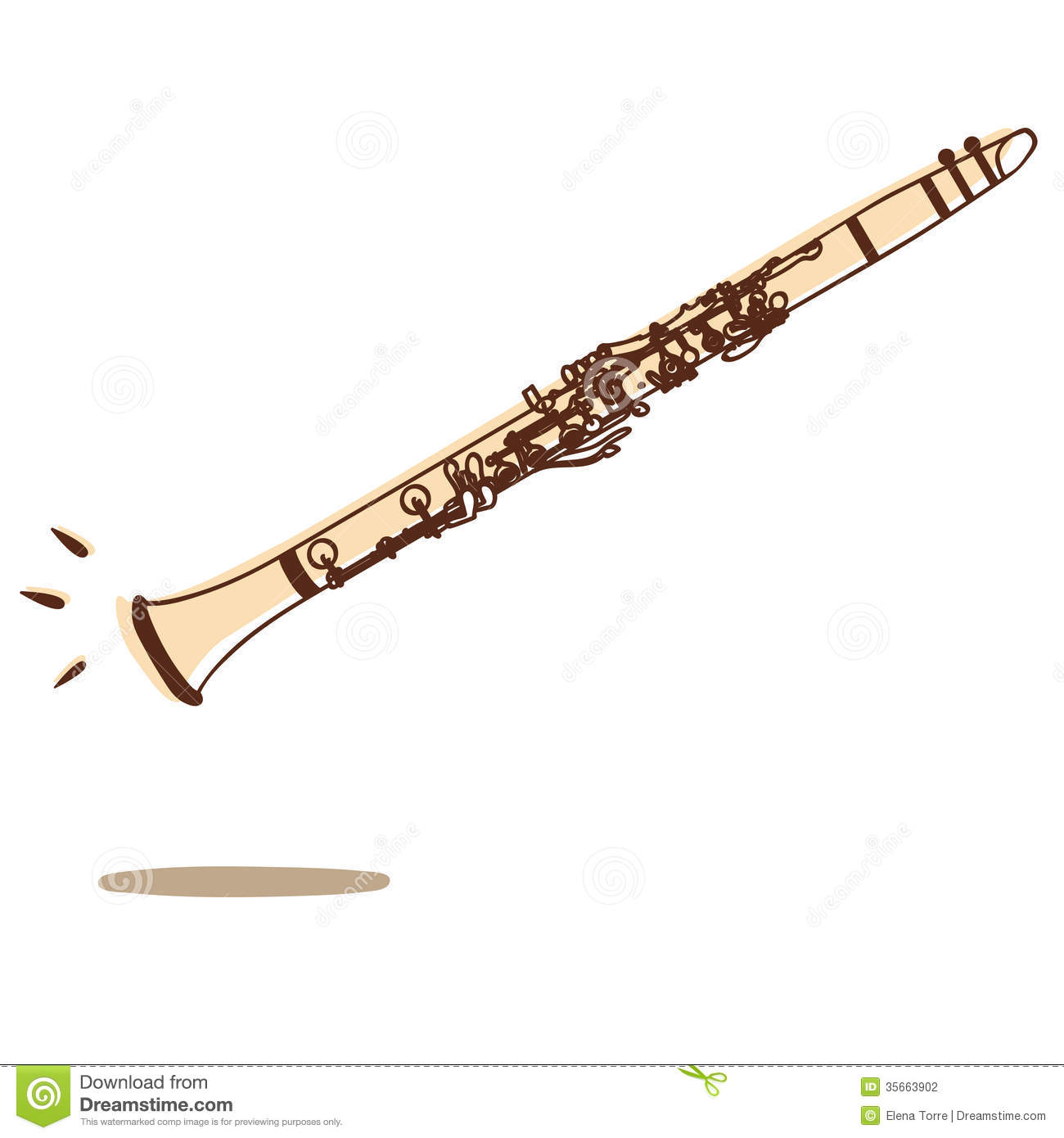 Clarinet vector stock vector. Illustration of play, soul ...
