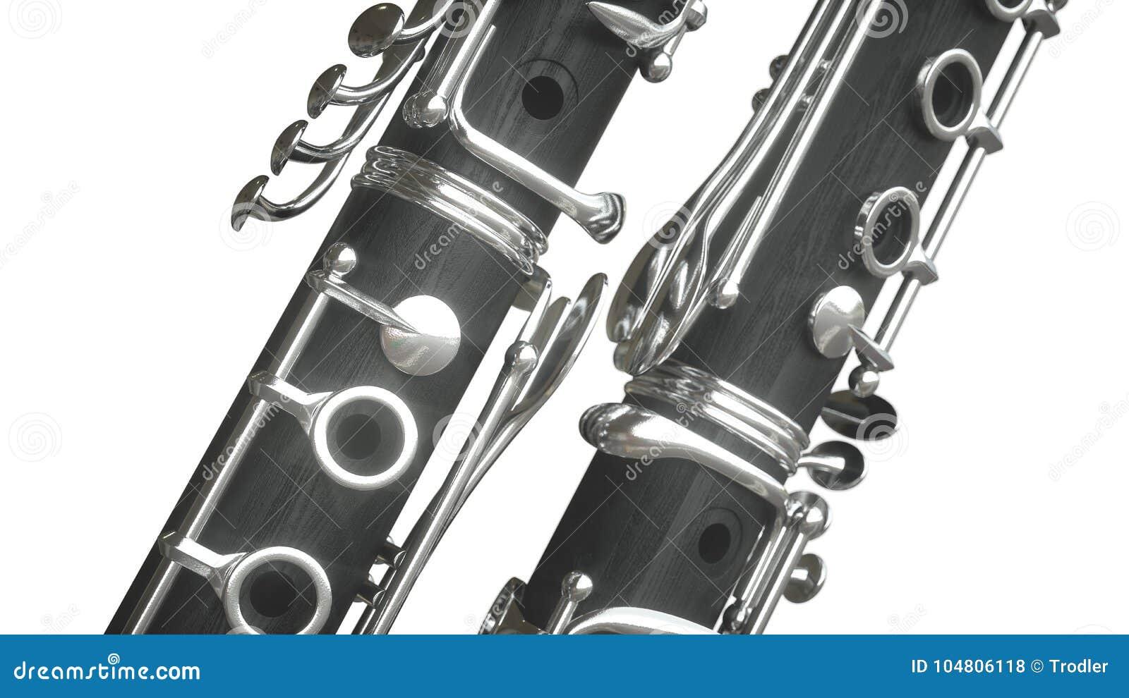 Clarinet rappresentazione 3d