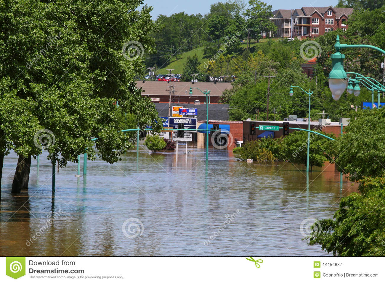 Clarksville Tn Flooding 2010 Editorial Photography