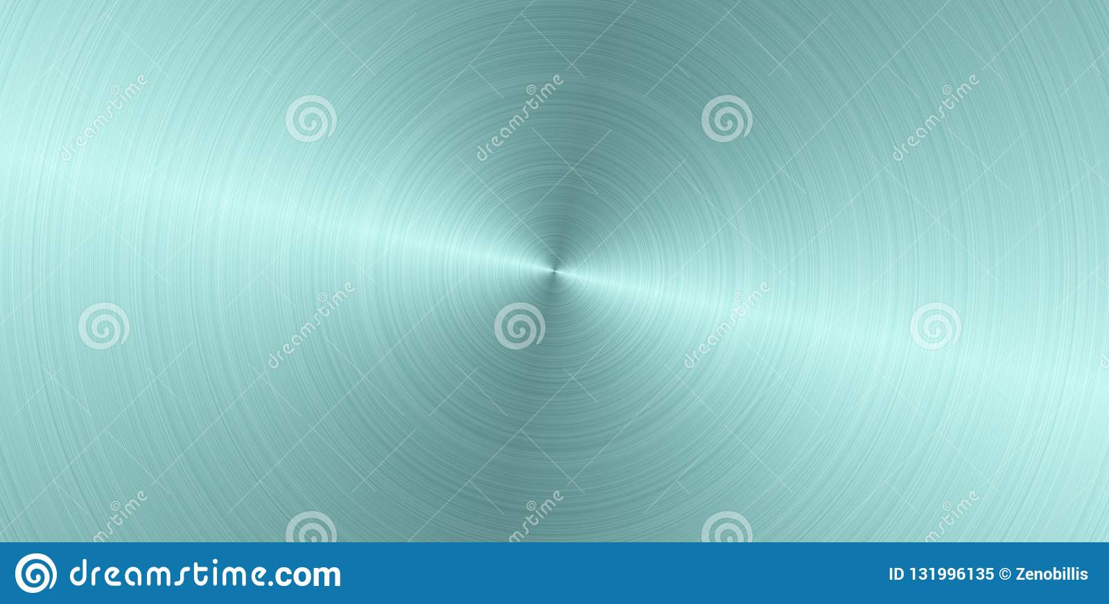 Claro circular escovado - superfície de metal azul Textura do metal Fundo panorâmico de aço do sumário
