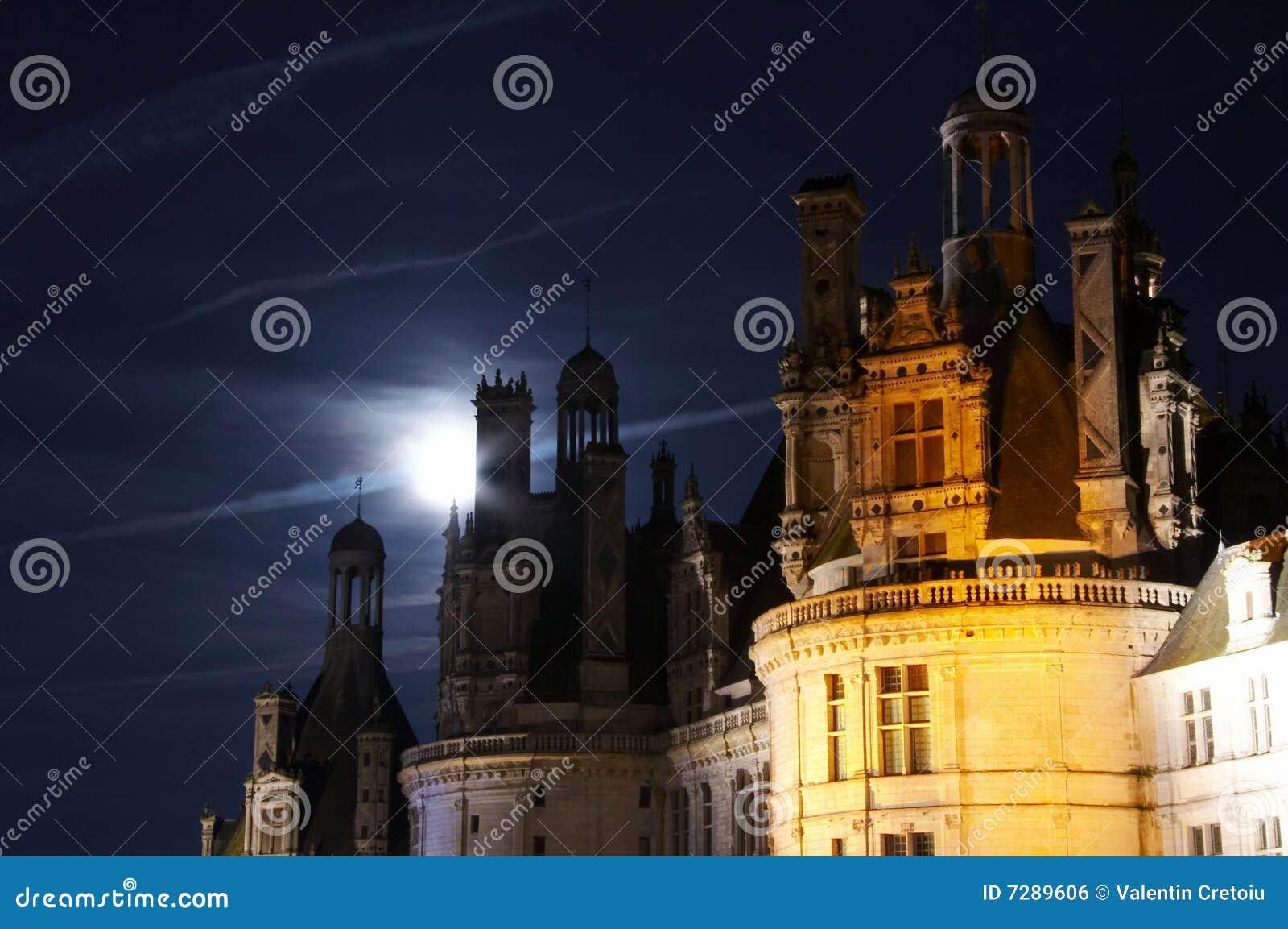 Claro de luna en Chateau de Chambord