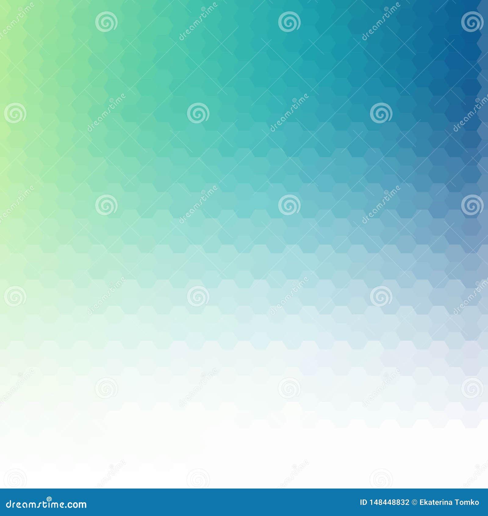 Claro - vetor azul que brilha o teste padr?o sextavado Uma ilustra??o de cor completamente nova em um estilo vago O projeto polig