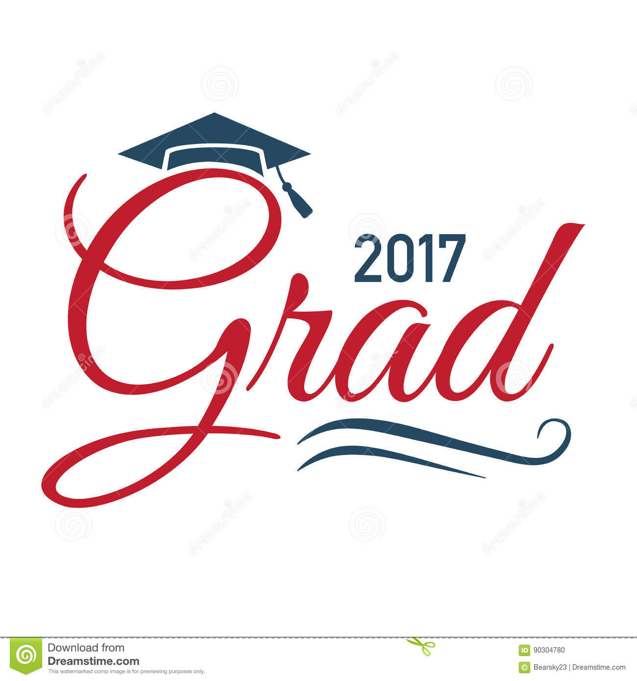 class of 2017 congratulations graduate typography stock vector image 90304780