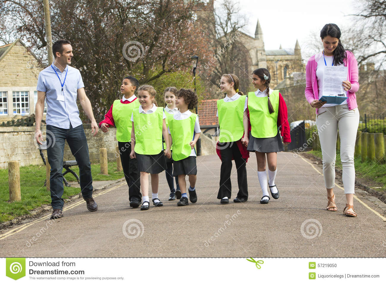 Class Field Trip stock photo. Image of exploration, guide ...