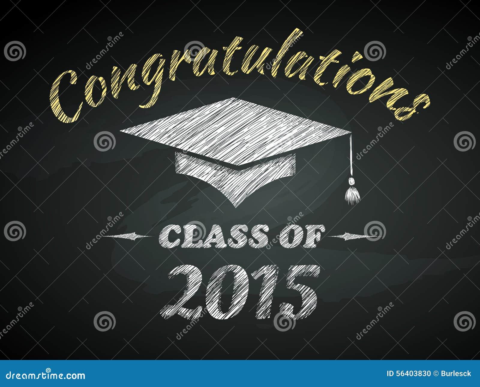 Class Of Graduation Poster Stock Vector Image 56403830