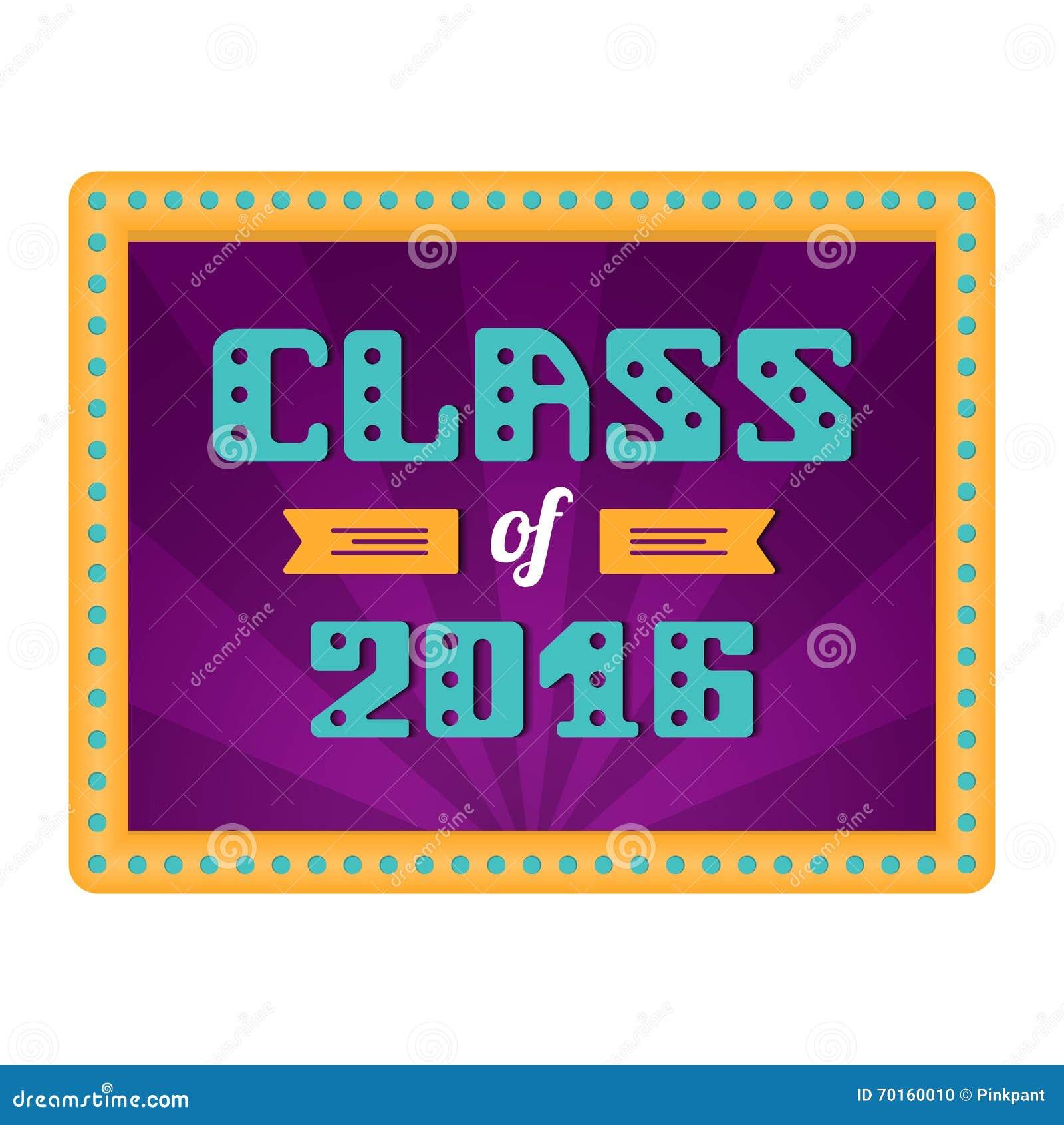 Class Of 2016 High School Graduate College Graduate Retro Frame