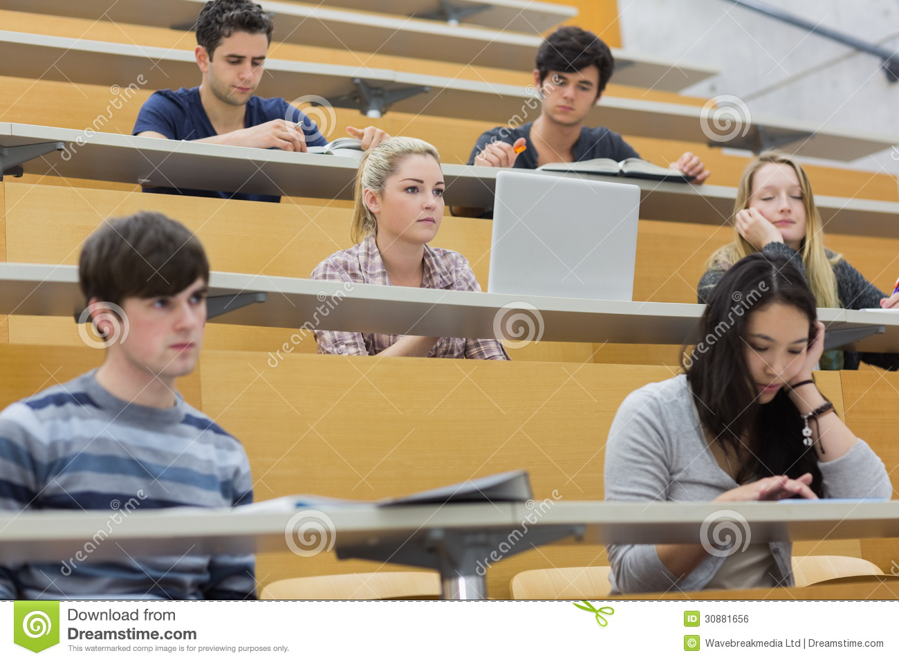 Class Listening In A Lecture Hall Royalty Free Stock Image ...