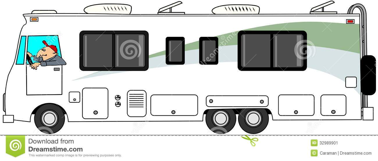 Class A Motorhome Stock Illustration Image Of Cartoon