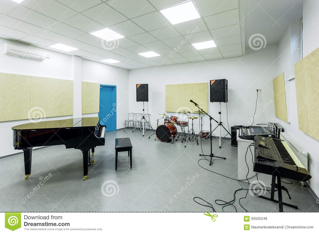 Modern Classroom Lesson Indicators : Class music lessons of the academy modern education interior editorial stock photo image