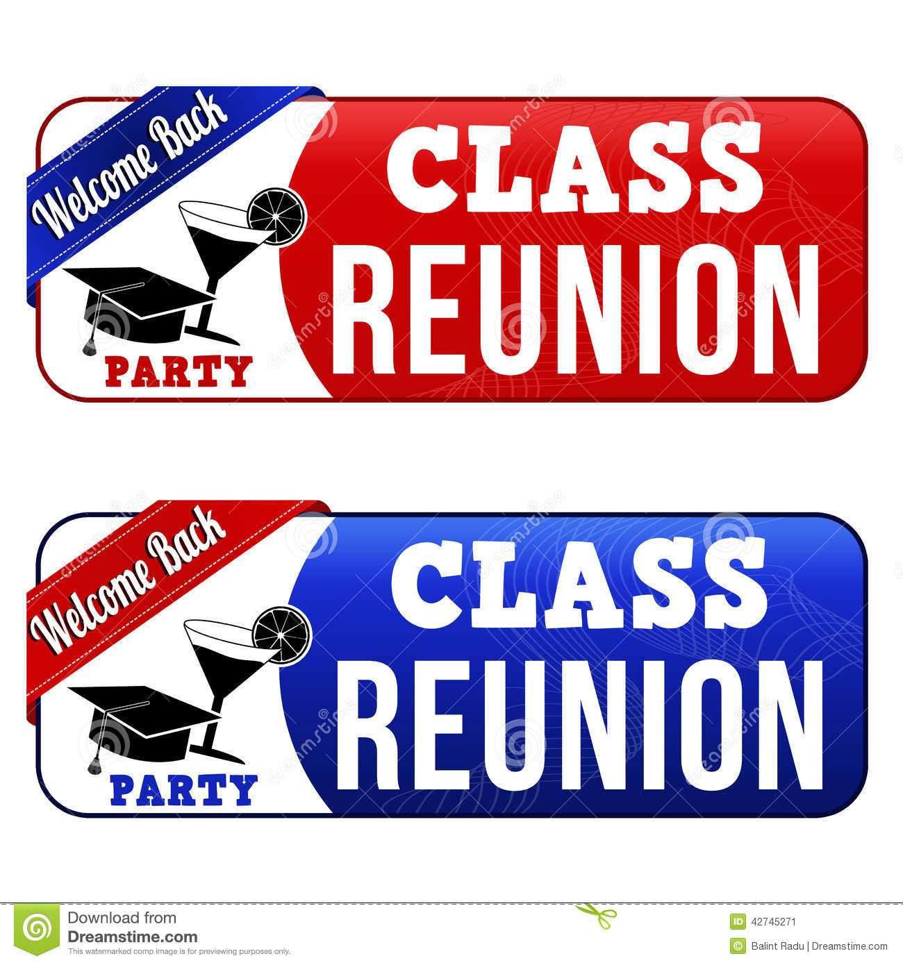 Class Reunion Banners Stock Vector Image