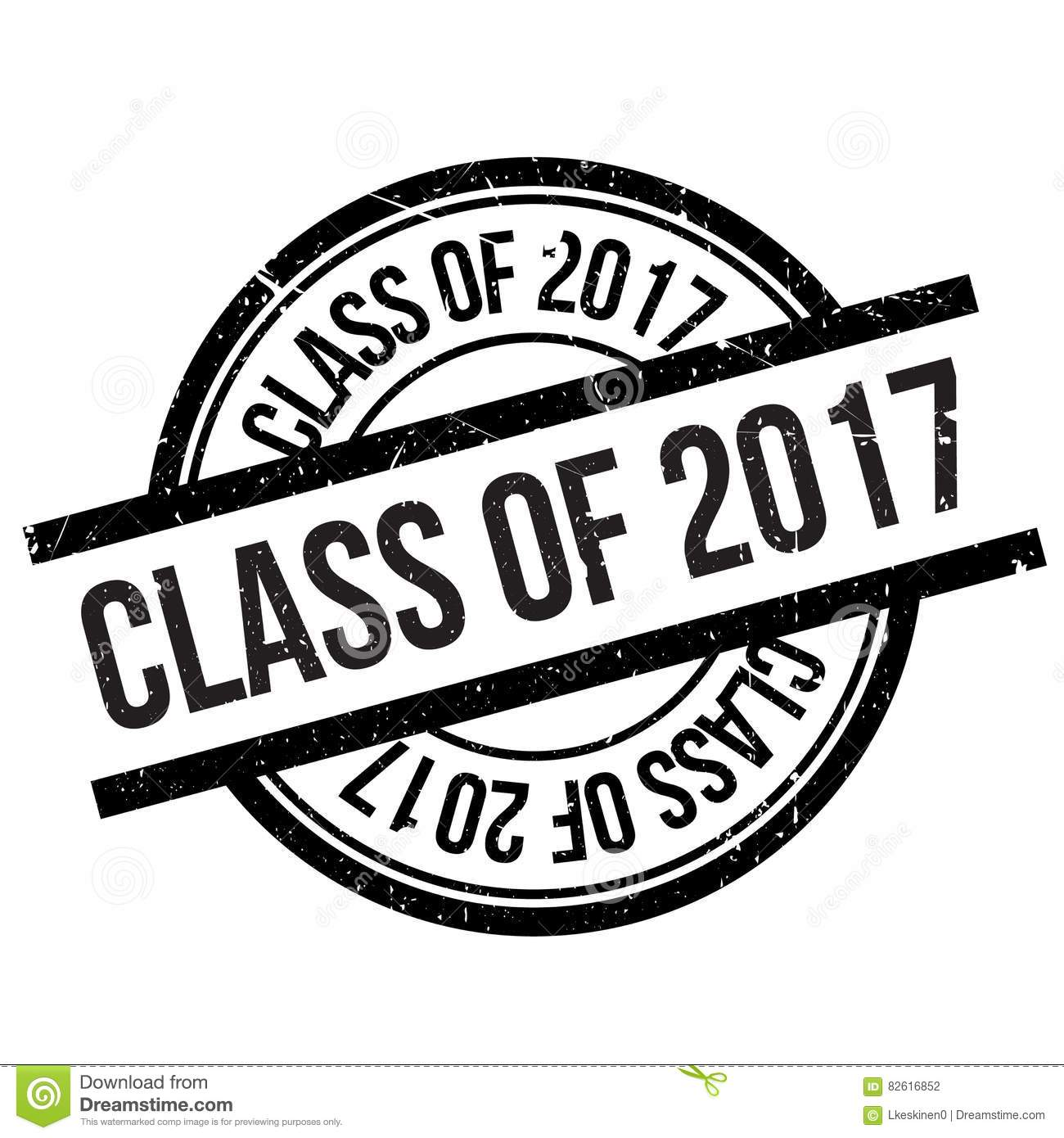 class of 2017 stamp stock vector image of institution