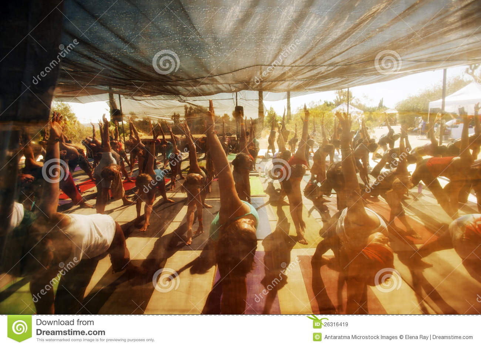 Classe da ioga do festival
