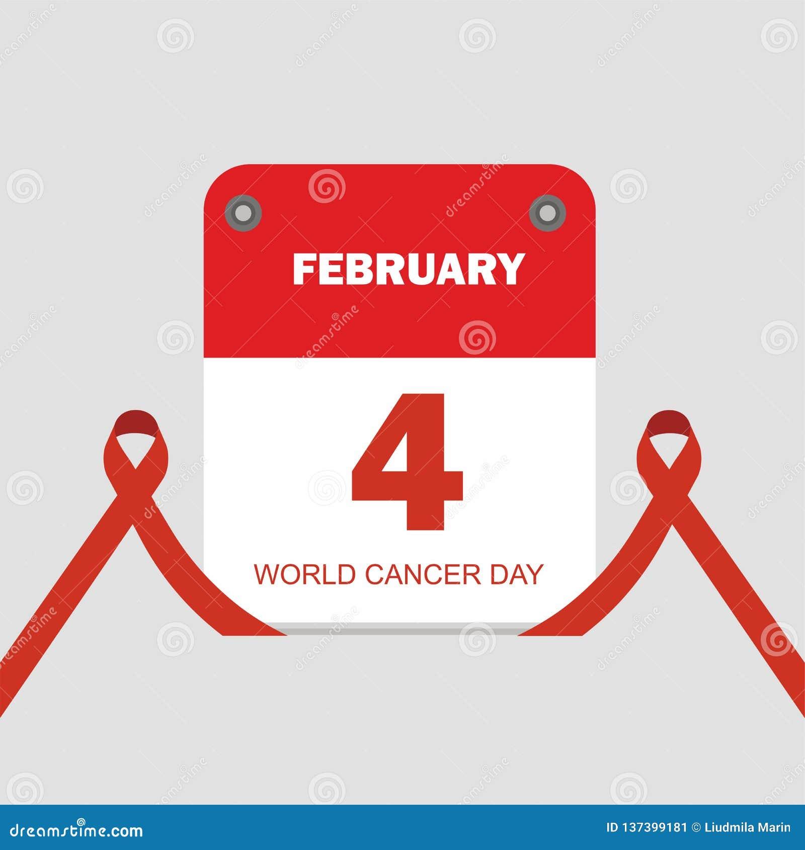 Classez l illustration de vecteur de jour de Cancer du monde de concept du 4 février
