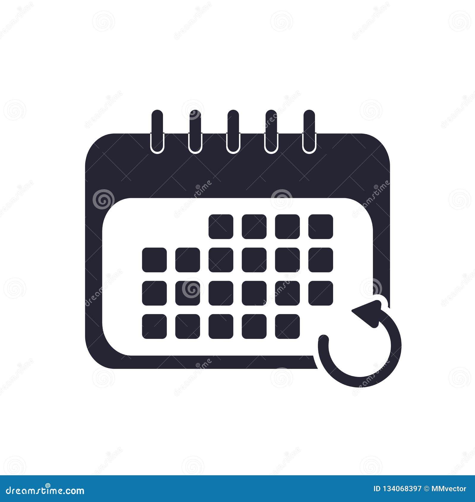Classez le signe et le symbole de vecteur d icône d isolement sur le fond blanc, concept de logo de calendrier