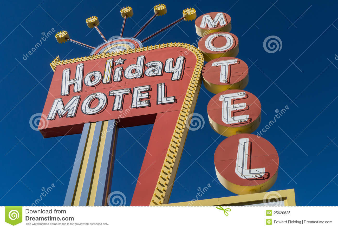 Classic 1950s Neon Motel Sign Editorial Image Image